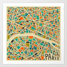 Paris+Art+Print+by+Jazzberry+Blue+-+$19.00 Love this geometric ork
