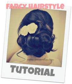 Video hair tutorial | easy bridal look, wedding hairstyle.  Romantic updos for prom for medium long hair