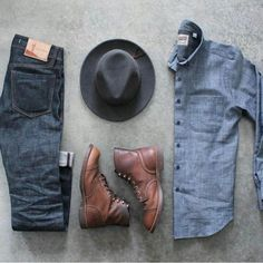 Stylish Mens Outfits, Cool Outfits, Casual Outfits, Fashion Outfits, Casual Wear, Men Casual, Country Wear, Moda Blog, Rugged Style