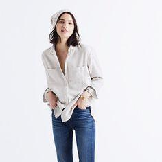An oversized take on our signature tomboy button-down in forever-perfect flannel. Ex-boyfriend shirt, next-boyfriend attitude. <ul><li>Oversized fit.</li><li>Cotton.</li><li>Machine wash.</li><li>Import.</li></ul>