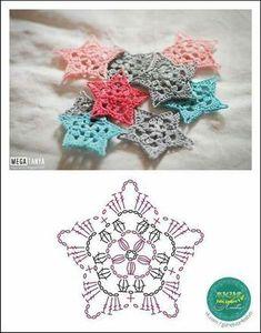 Breathtaking Crochet So You Can Comprehend Patterns Ideas. Stupefying Crochet So You Can Comprehend Patterns Ideas. Crochet Snowflake Pattern, Crochet Stars, Crochet Motifs, Christmas Crochet Patterns, Crochet Snowflakes, Crochet Diagram, Crochet Doilies, Crochet Flowers, Crochet Symbols