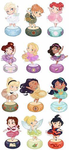 Baby Disney Characters, Disney Princess Cartoons, All Disney Princesses, Disney Princess Drawings, Disney Princess Art, Disney Princess Pictures, Disney Cartoons, Disney Character Drawings, Cute Disney Drawings