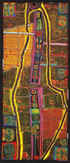 Hundertwasser Paintings, 1953 le presque cercle