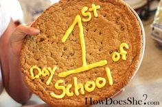 Giant cookie to welcome them home on the 1st day of school