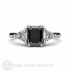Hey, I found this really awesome Etsy listing at https://www.etsy.com/listing/195682030/black-diamond-engagement-ring-3-stone