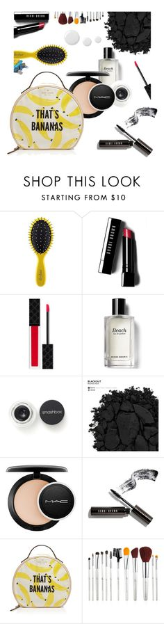 """What's Inside My Makeup Bag"" by fan-addx ❤ liked on Polyvore featuring beauty, Drybar, Bobbi Brown Cosmetics, Gucci, Smashbox, Urban Decay, MAC Cosmetics, Kate Spade, contestentry and PVStyleInsiderContest"