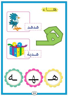 Arabic Arabic Alphabet Letters, Alphabet Letter Crafts, Arabic Alphabet For Kids, Learn Arabic Online, Arabic Phrases, Arabic Lessons, Educational Crafts, Arabic Language, Learning Arabic