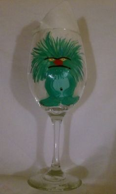 Monster Hand Painted 20oz Wine Glasses Is it by MyPaintedTreasures, $12.00