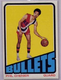 d45ec67ef Topps Basketball Phil Chenier RC - Baltimore Bullets This is Phil Chenier   s Rookie Card
