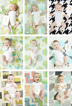 Month-by-Month Baby Photo Ideas • Arts & Crafts