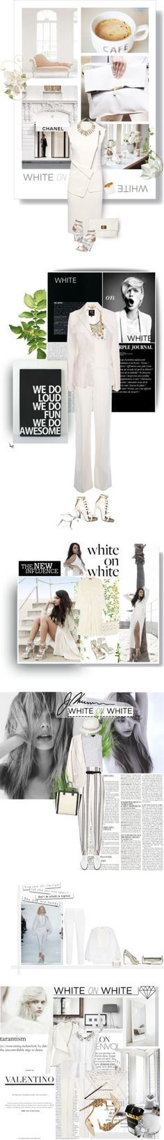 """""""White Hot: White on White"""" by polyvore-editorial ❤ liked on Polyvore"""