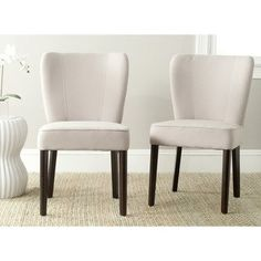 Shop for Safavieh Mid Century Modern Dining Clifford Taupe Dining Chairs (Set of 2). Get free shipping at Overstock.com - Your Online Furniture Outlet Store! Get 5% in rewards with Club O! - 15623273
