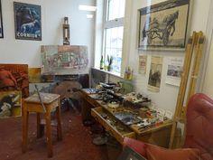 Norman Cornish Studio now at Spennymoor Town Hall Sunderland University, Norman Cornish, Art Pictures, Art Pics, Newcastle University, Art School, Town Hall, Studio, Google Search