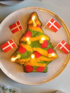 Christmas cake with colors