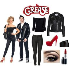 Grease Costumes Diy - Holidays and events - Halloween Grease Couple Costumes, Grease Halloween Costumes, Grease Outfits, Halloween Outfits, Diy Costumes, Teen Costumes, Sandy Grease Costume, Sandy Costume, Costume Ideas