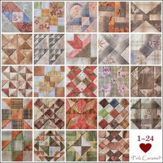 A Farmer's Wife quilt blocks