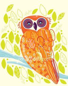 'Hoot Hoot: Owl #1' by Katie Moon