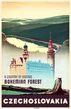 Czechoslovakia vintage poster