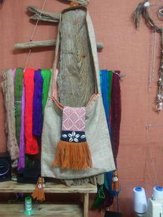 Hemp SIDE BAG made by dandanaturecraft