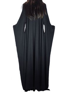 Fingerless Multi-Way Asymmetric Long Cape Dress