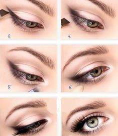 Make a Gentle Cross Between Smokey Eyes and Winged Liner by Using a Black Eyeshadow Instead of Liquid Eyeliner Eye Makeup Tips, Makeup Blog, Smokey Eye Makeup, Makeup Ideas, Eyebrow Makeup, Makeup Tutorials, Emo Makeup, Makeup Inspiration, Eyeshadow Tutorials
