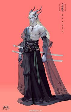 The Dragonlord of Sumu Tochi. Fantasy Character Design, Character Creation, Character Design Inspiration, Character Concept, Fantasy Inspiration, Character Art, Concept Art, Dnd Characters, Fantasy Characters