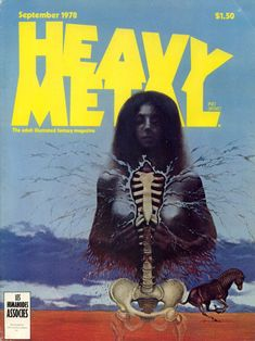 Heavy Metal is an American science fiction and fantasy comics magazine, known primarily for its blend of dark fantasy/science fiction and e. Arte Heavy Metal, Heavy Metal Movie, Heavy Metal Rock, Metal Magazine, Magazine Art, Magazine Covers, Dark Fantasy, Fantasy Art, Ladies Of Metal