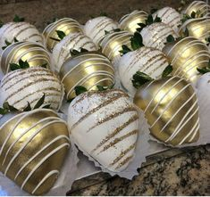 Gold Chocolate Covered Strawberries by SweetHeartDesigns91 on Etsy: