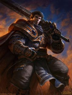 Garen - League of Legends armor clothes clothing fashion player character npc | Create your own roleplaying game material w/ RPG Bard: www.rpgbard.com | Writing inspiration for Dungeons and Dragons DND D&D Pathfinder PFRPG Warhammer 40k Star Wars Shadowrun Call of Cthulhu Lord of the Rings LoTR + d20 fantasy science fiction scifi horror design | Not Trusty Sword art: click artwork for source