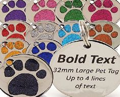 Engravables Personalised Engraved 32mm Glitter Paw Print Tag BOLD Contrasting Text, LARGE DOG Pet ID Tags (Red) No description (Barcode EAN = 3097743182770). http://www.comparestoreprices.co.uk/december-2016-week-1-b/engravables-personalised-engraved-32mm-glitter-paw-print-tag-bold-contrasting-text-large-dog-pet-id-tags-red-.asp