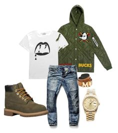 Untitled #8 by gurustreetwear on Polyvore featuring polyvore, fashion, style, MCM, Yves Saint Laurent, Rolex, Timberland, G-Star Raw and clothing