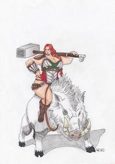 #boar #viking #hammer #strongwomen