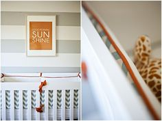 CKM Interiors: Gray, Orange, and Blue Nursery