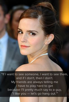 Our favorite Emma Watson quotes on kissing, dating, and relationships.