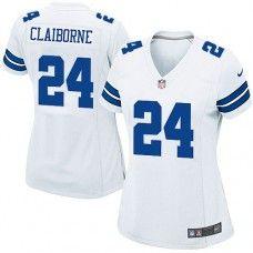Womens Nike Dallas Cowboys http://#24 Morris Claiborne Elite White Jersey$109.99