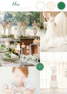 A New Classic - Fresh Green, Cream, and White Wedding Inspiration