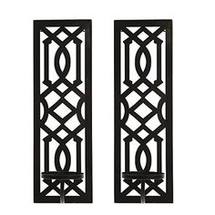 Hosley Set of 2 Metal Wall Sconce 16.5 Inch High - Your Choice of Colors/Design. Great Wall Decor Ideal Gift for Wedd... Candle Sconces, Wall Sconces, Retail Interior Design, Garden Candles, Gifts For Wedding Party, Cool Walls, Metal Walls, Pillar Candles, Accent Decor