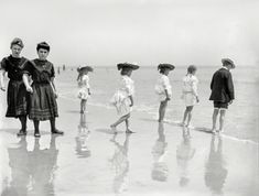 U.S. On the beach, Coney Island, New York c. 1905