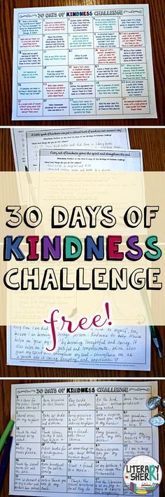 This ready to print-'n-go resource challenges students to perform 30 intentional acts of kindness in 30 days! Print it today and use it tomorrow to build a strong classroom community and help your students make a positive difference in their world! Teaching Kindness, Kindness Activities, Class Activities, Teaching Respect, Social Emotional Learning, Social Skills, Social Work, Beginning Of School, First Day Of School