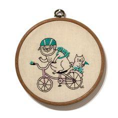 Biker Pug embroidery at Magic Pony