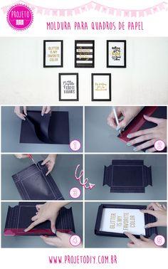Como fazer molduras de quadro leves e fáceis! Parede de Quadrinhos | Wall Gallery