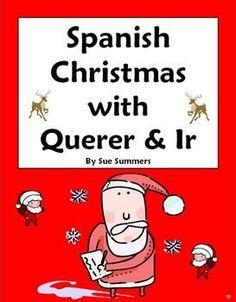 Spanish Christmas Navidad With Verbs Querer & Ir Worksheet by Sue Summers, Navidad