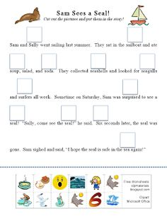 Ms. Lane's SLP Materials: Articulation-Initial S Story Activity. Pinned by SOS Inc. Resources.  Follow all our boards at http://pinterest.com/sostherapy  for therapy resources.