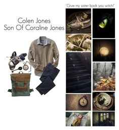 """""""Son Of Coraline Jones"""" by pastelgothprincess27 ❤ liked on Polyvore featuring Old Navy, TravelSmith, Converse, men's fashion and menswear"""