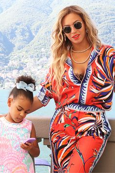 Blue Ivy & Beyoncé in Milan, July 2016.
