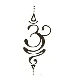 Beautiful OM~ This would make a cool tattoo. I want to do this on a t-shirt with a bleach pen.: