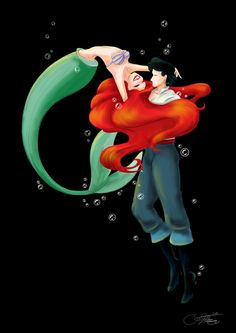 Ariel+and+Eric+by+SilverCatseyes.deviantart.com+on+@deviantART