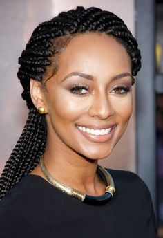 Keri Hilson at the Los Angeles premiere of 'Riddick' held at the Regency Village Theatre in Westwood, Los Angeles wearing lovely statement necklace and gold earring studs