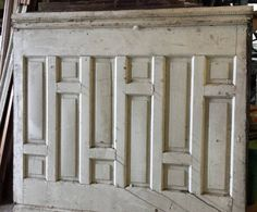 Beautiful raised panel wainscoting just in. We love this design it's so unusual!  Several panels available. de peoriaarchsalvage