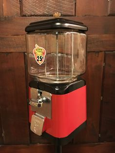 My latest Acorn gumball machine restoration, by J. Vending Machines, Gumball Machine, Evening Sandals, Candy Jars, Coolers, Popcorn Maker, Acorn, Boys, Girls